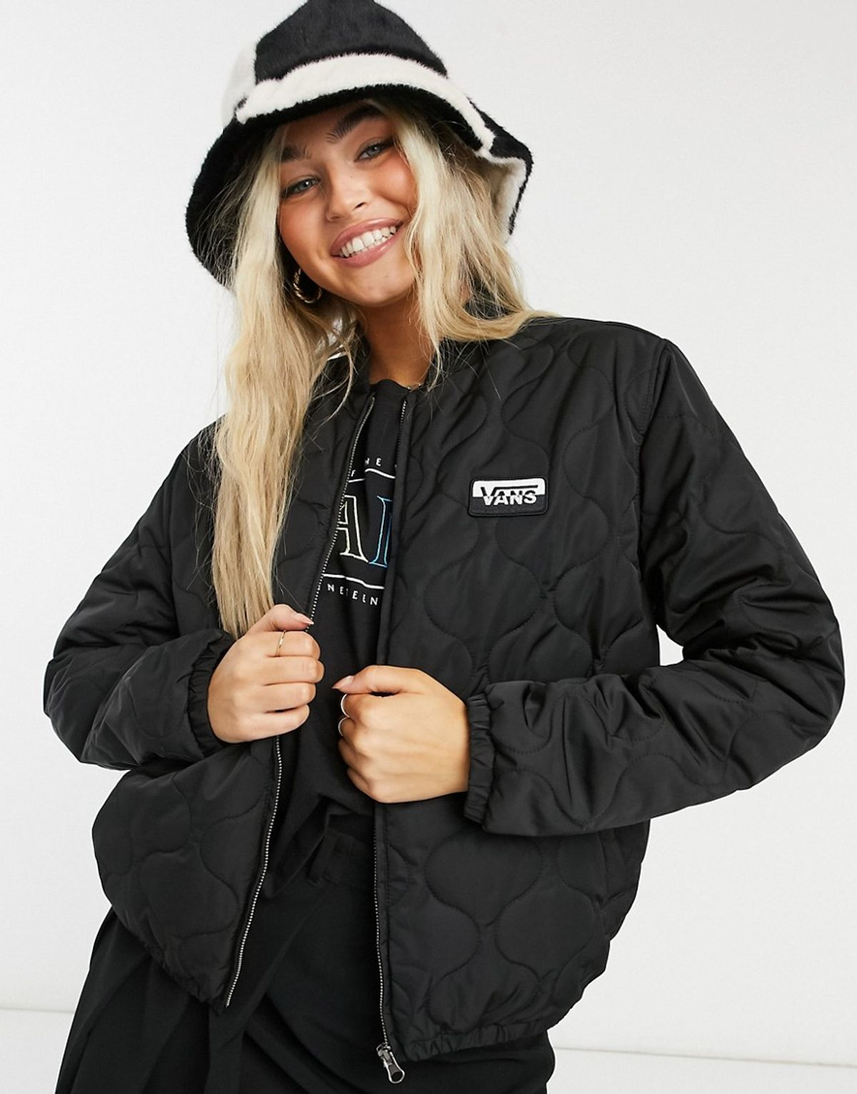 Vans Boom Boom Vi Bomber Jacket In Black   WHAT'S ON THE STAR?