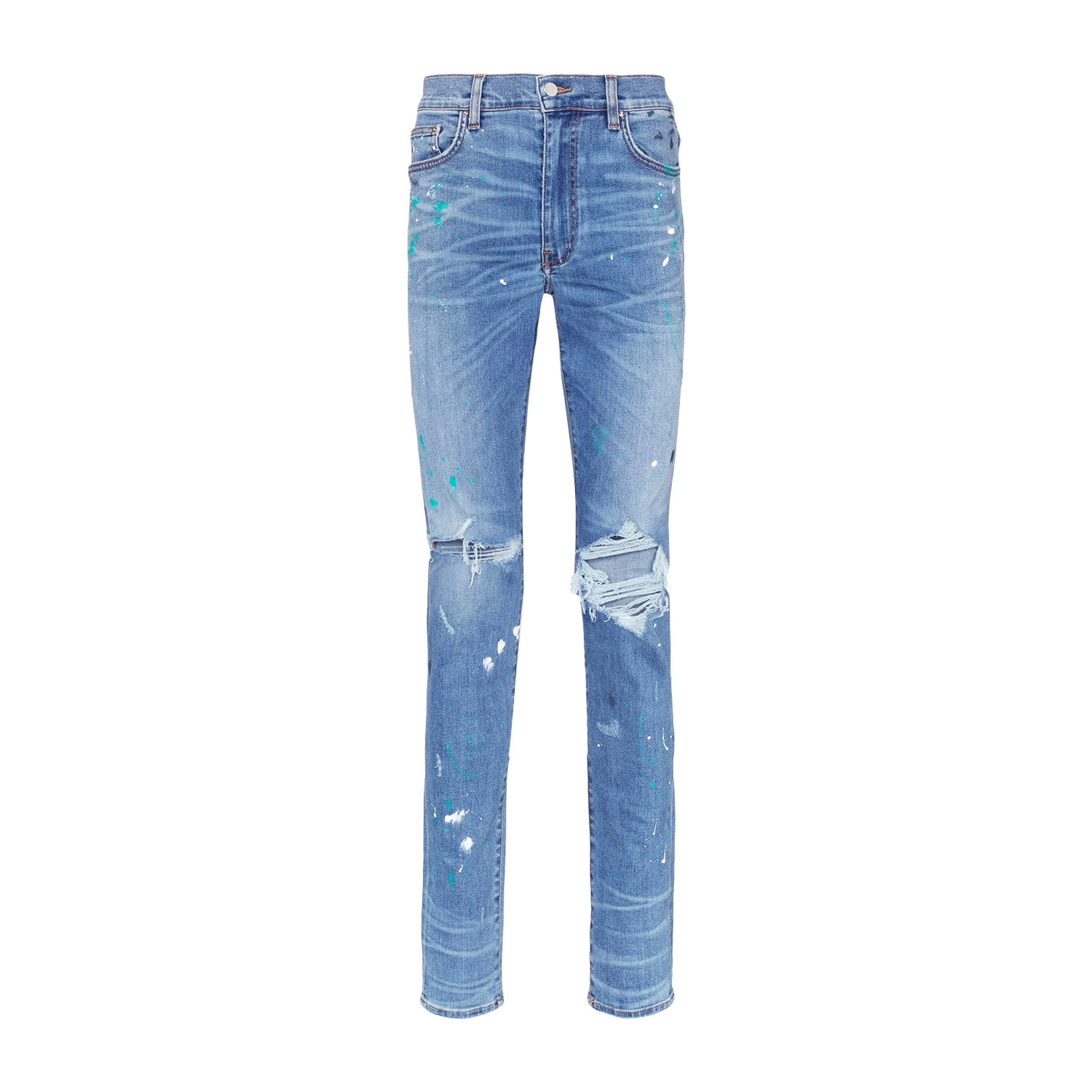 Amiri Paint Splatter Slim Fit Jeans   WHAT'S ON THE STAR